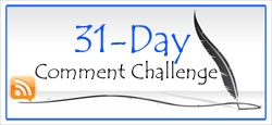 31 Day Comment Challenge Logo